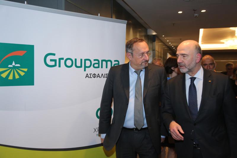 Groupama Ασφαλιστική, ένας από τους χορηγούς της εκδήλωσης προς τιμήν του Πιερ Μοσκοβισί