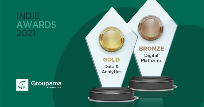 Οι καμπάνιες της Groupama Ασφαλιστικής πρωταγωνιστούν στα Indie Awards με δύο βραβεία